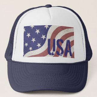 USA flag rustic Americana Trucker Hat