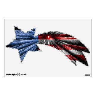 USA Flag Shooting Star Decal
