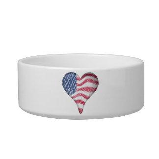 USA Flag Sketch Painting Blur Bowl