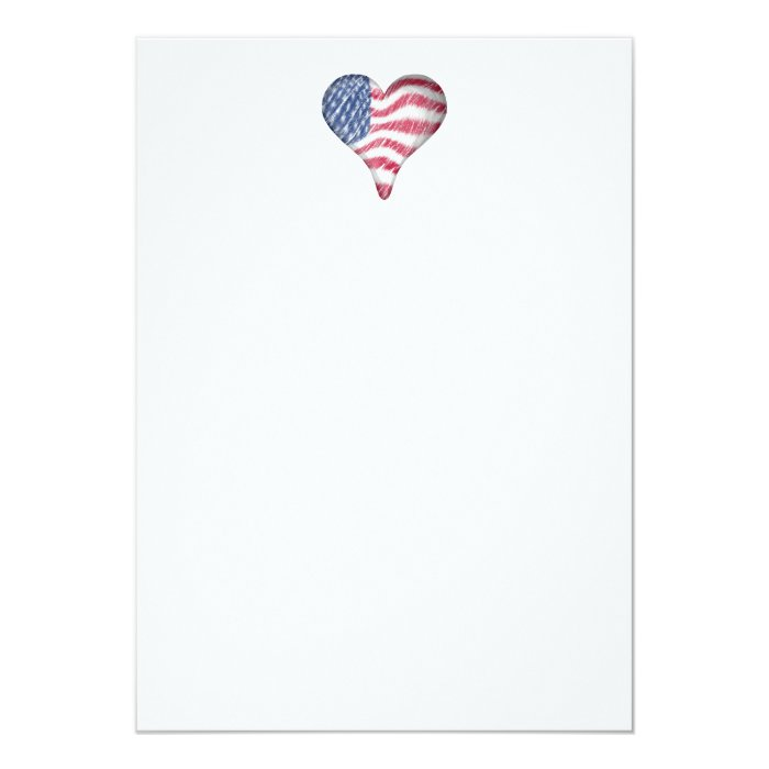 USA Flag Sketch Painting Blur Card