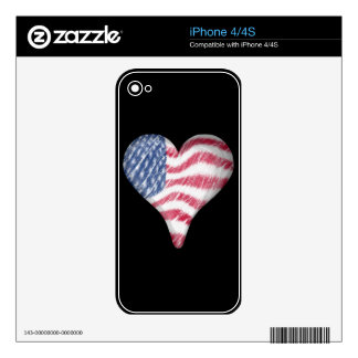 USA Flag Sketch Painting Blur iPhone 4S Skins