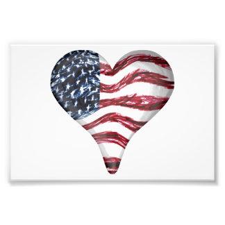 USA Flag Sketch Painting Photo Print