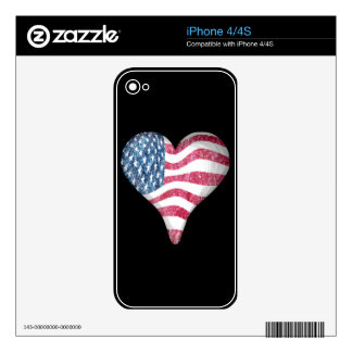 USA Flag Sketch Painting iPhone 4 Skin