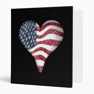 USA Flag Sketch Painting Vinyl Binders