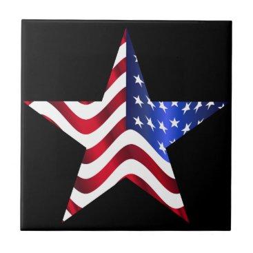 "USA Themed Usa Flag  Small (4.25"" x 4.25"") Ceramic Photo Tile"