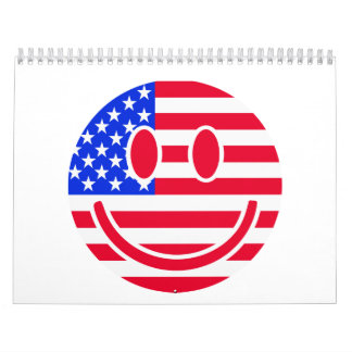 USA flag smiley Calendar