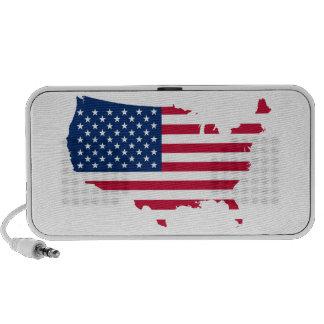 USA Flag Notebook Speakers