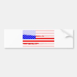 USA Flag Splash Bumper Sticker