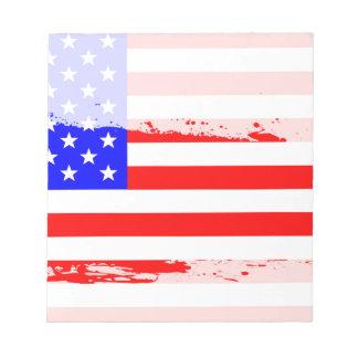 USA Flag Splash Notepad