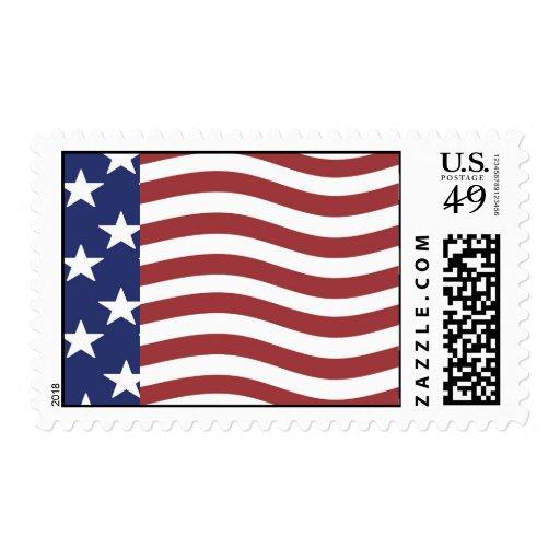 USA flag Stamps