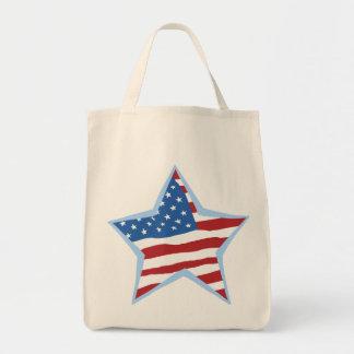 USA Flag Star Bags Totes