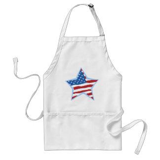USA Flag Star Chef's apron