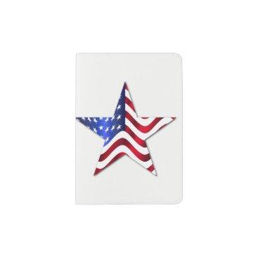 Professional Business Usa Flag Star Custom Passport Holder