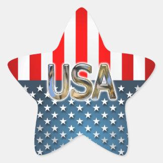 USA Flag Star Sticker