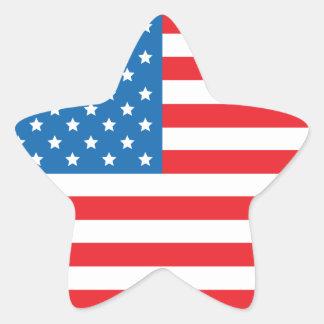 USA Flag Star Stickers