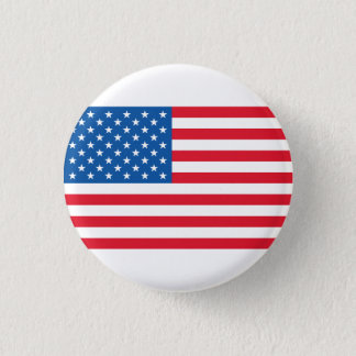 USA Flag stars and stripes Button