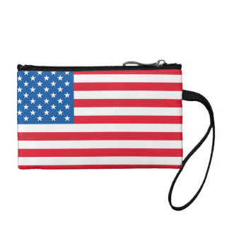 USA Flag stars and stripes Coin Wallet