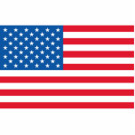 USA Flag stars and stripes Cutout