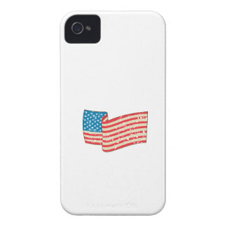 USA Flag Stars and Stripes Grunge Wavy Retro iPhone 4 Cover