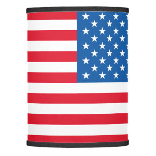 Blue striped lamp shades zazzle usa flag stars and stripes lamp shade aloadofball Gallery