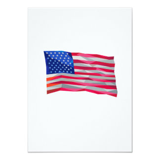 USA Flag Stars and Stripes Low Polygon Card