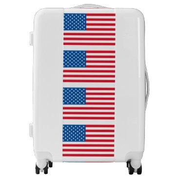 USA Themed USA Flag stars and stripes Luggage