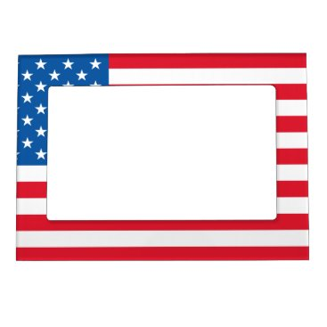 USA Flag stars and stripes Magnetic Photo Frame