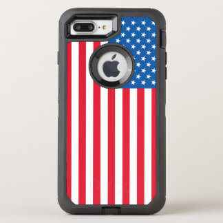 USA Flag stars and stripes OtterBox Defender iPhone 8 Plus/7 Plus Case