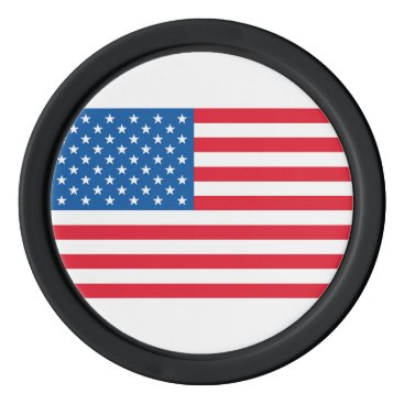USA Flag stars and stripes Poker Chip Set