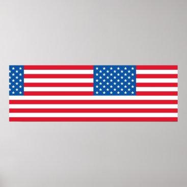 USA Themed USA Flag stars and stripes Poster