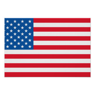 USA Flag stars and stripes Poster
