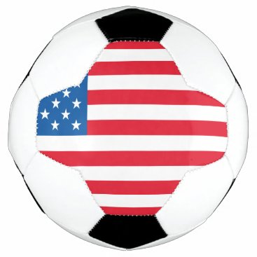 USA Flag stars and stripes Soccer Ball