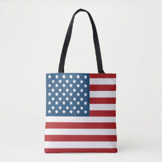 USA Flag Stars and Stripes Tote Bag