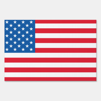 USA Flag stars and stripes Yard Sign