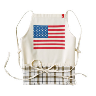 USA Flag stars and stripes Zazzle HEART Apron