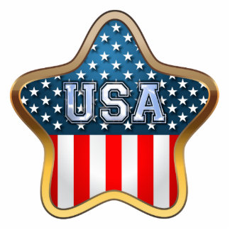 USA Flag Statuette
