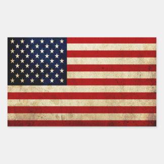 USA Flag Rectangle Stickers