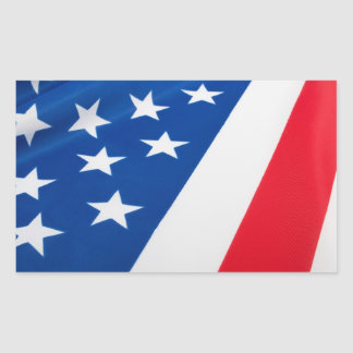 USA Flag Rectangle Stickers
