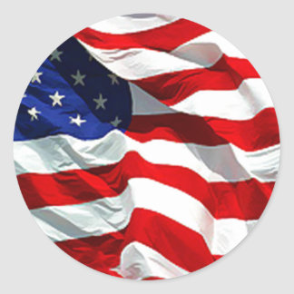 USA Flag sticker and envelope Seal