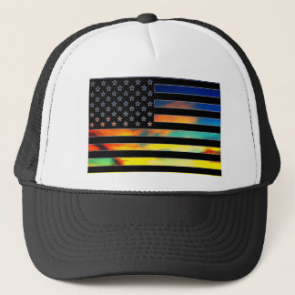 USA Flag Sunset Hat