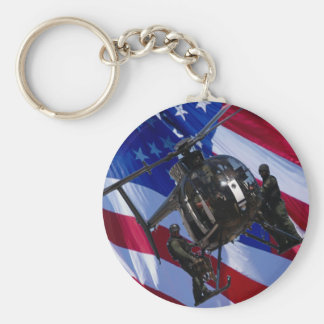 USA FLAG SWAT HELICOPTER BASIC ROUND BUTTON KEYCHAIN