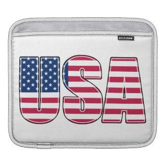 USA Flag Tablet Computer Sleeve