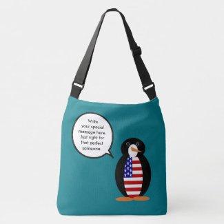 USA Flag Talking Penguin