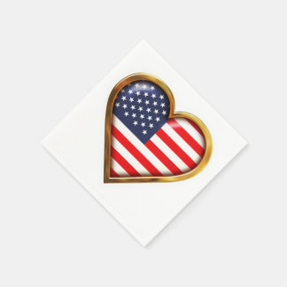 USA Flag Paper Napkin