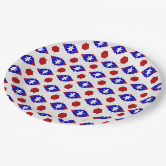 USA Flag-Teabag Folding S1-PAPER PARTY PLATES