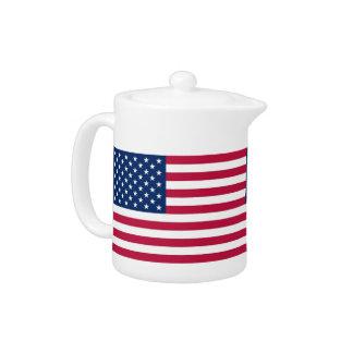 USA Flag Teapot