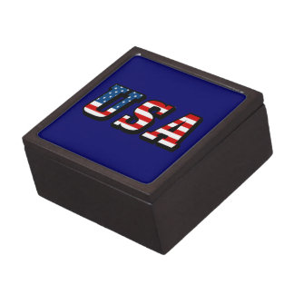 USA Flag Text Gift Box