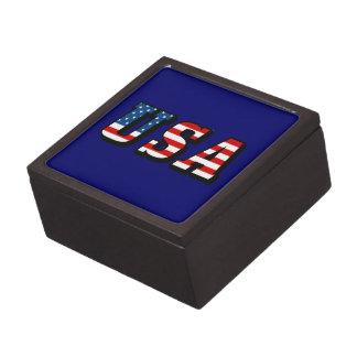 USA Flag Text Gift Box