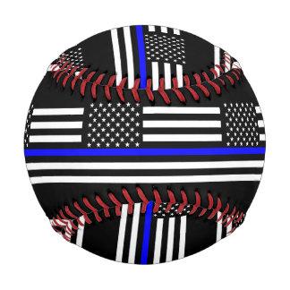 USA Flag The Thin Blue Line Theme Baseball