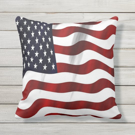 Usa Flag Throw Pillow Zazzle Com